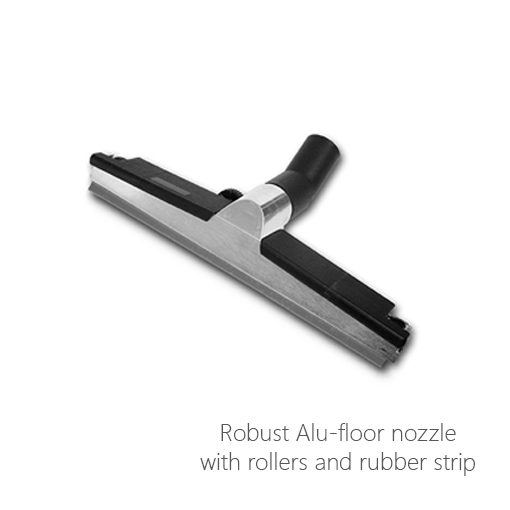 Robust Alu-floor nozzle with rollers and rubber strip, 052-0192, 052-0193, 052-0276, 052-0277