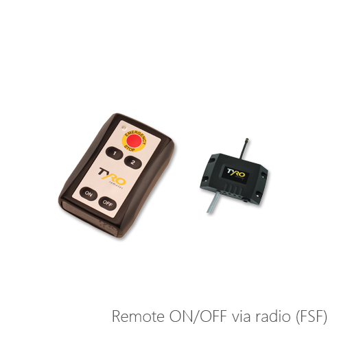 Remote ON/OFF via radio (FSF), 054-6933, 054-6932, 054-40208, 054-60322