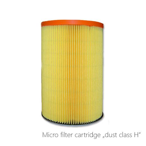 "Micro filter cartridge"" dust class h"", 124-7768"
