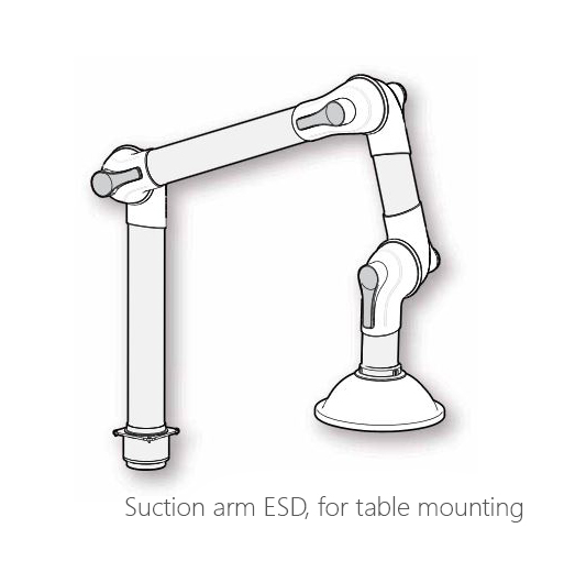 Suction arm ESD, 072-0400, 072-0401, 072-0402, 072-0403