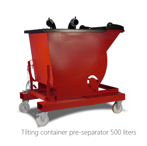 Tilting container pre-separator 500 liters, 053-2010